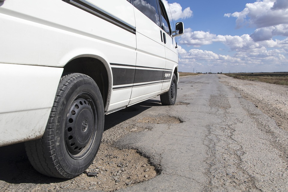 Flat Tire – Avoiding Potholes